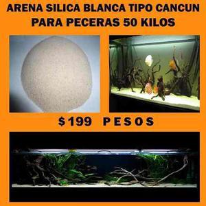 Arena Silica Blanca Para Peceras 50 Kilos