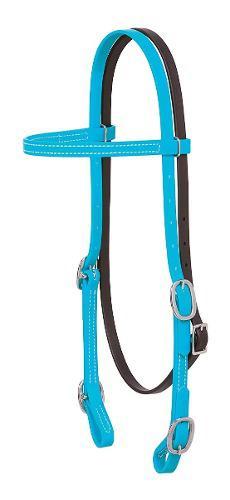Bridas Cabezada Para Caballo Weaver Brahma Webb Color Azul