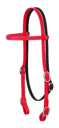 Bridas Cabezada Para Caballo Weaver Brahma Webb Color Rojo