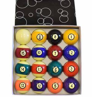 Caja Con 6 Juegos De 16 Bolas De Billar Para Pool