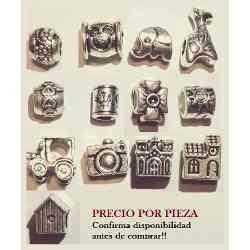 Charms Dijes Pulsera Pandora Y Otras Chapa Plata X Pza