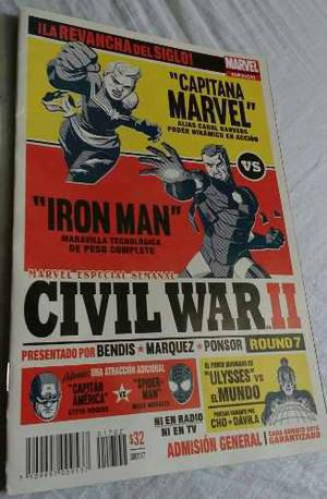 Cómic Civil War Ii 2 Comics Número 4 Y 7 Marvel