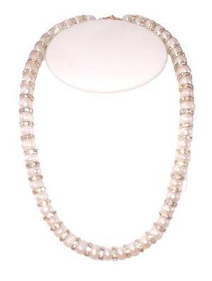 Collar Pulsera Y Aretes Con Perlas Cultivadas A056