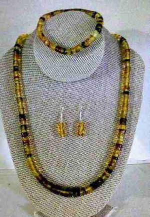 Collar Y Pulsera De Ambar Autentico Modelo Pucca