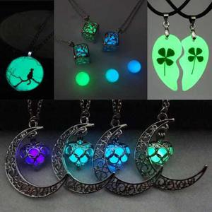 Collares Collar Luna Brilla Oscuridad Pulsera Cristal Cadena