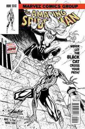 Comic - Amazing Spider-man #8 Sketch Campbell Black Cat