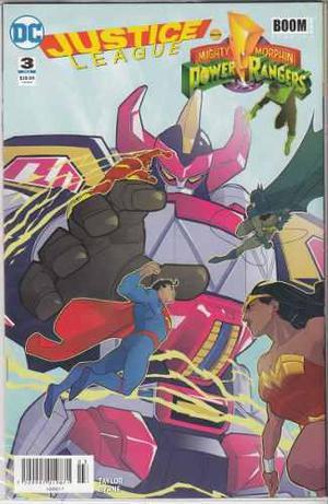 Comic Crossover Justice League / Power Rangers Tomo 3 Nuevo