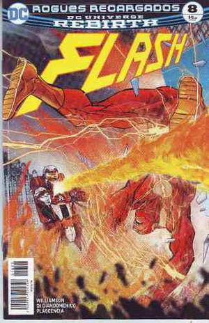 Comic Dc Universe Rebirth Flash # 8 Español Carton Y Bolsa
