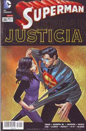 Comic Superman New 52 # 34 Justicia Nuevo Carton Y Bolsa