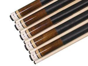 Conjunto De 5 Brown Aska L2 De Billar Pool Cues, 58 Hard Ro