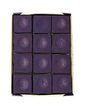 Copa De Plata Mesa De Billar Tiza En Púrpura - 12 Pc Set