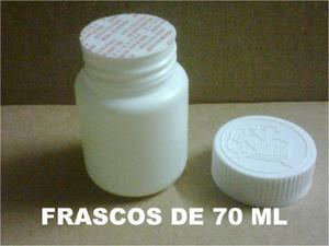 Envases, Frascos De Plástico 70 Ml (paq 15 Pzas) $93