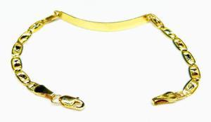 Esclava Bracelet Para Niños En Oro 10k Gucci 16.3cms 4.5mm