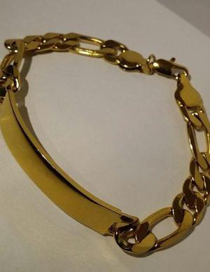 9a5d5528e89c Esclava oro laminado 18k con placa-excelente calidad-estuche