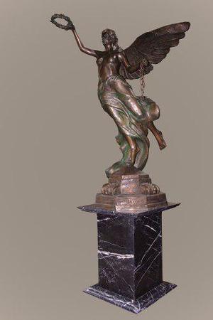 Escultura Angel De La Independencia Monumental Bronce
