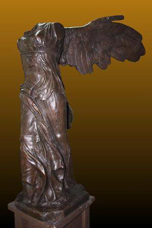 Escultura Bronce Victoria De Samotracia Formato Grande