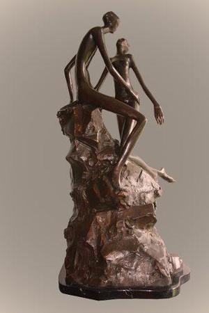 Escultura De Bronce El Atardecer Hermosa