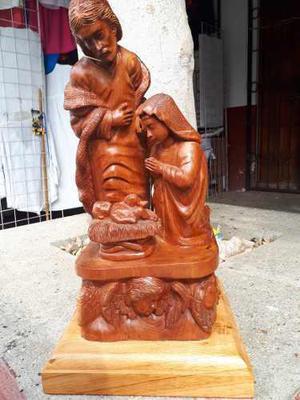 Escultura De La Sagrada Familia, Cedro, Pieza De Concurso