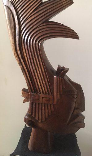 Escultura De Pakal Tallada En Madera