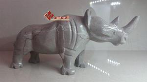 Escultura De Rinoceronte En Mármol Natural, Casa & Oficina