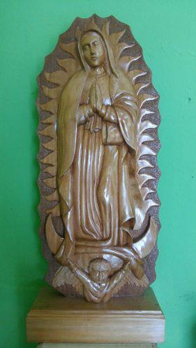 Escultura De Virgen De Guadalupe/madera De Cedro/ + Regalo