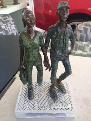Escultura En Bronce Patinado Firmada Marion Sulkin 2017