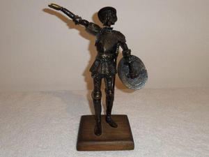 Escultura Figura De Bronce Del Quijote De La Mancha Vintage