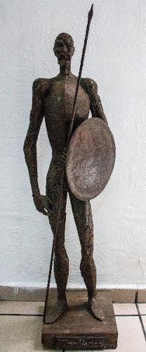 Escultura Grande De Metal Don Quijote, Firma L.torreblanca