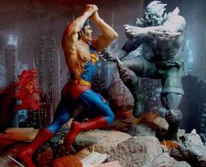 Escultura La Muerte De Superman Vs Doomsday