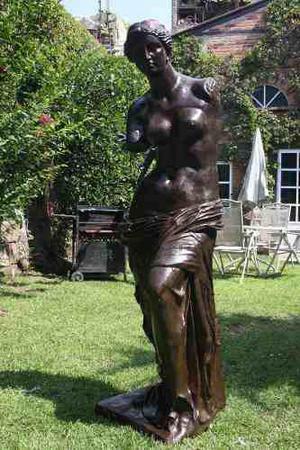 Escultura Venus De Milo De Bronce Monumental