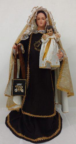 Figura Virgen Del Carmen De 85 Cm De Vestir F V