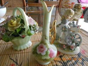 Figuras De Porcelana China Lefton Y Figura Con Luz Porcelana