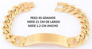 Gran Esclava Hombre Oro 24 K Laminado 30 Micras + Regalo