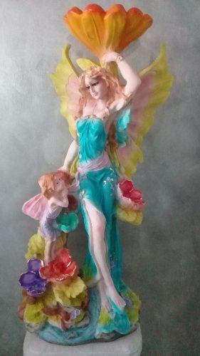 Hada Con La Flor Y El Ángel 70 Cm Altur+regalo+envió