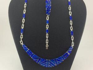 J10 Juego Collar Pulsera Aretes De Plata925 Con Piedra Opalo
