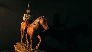 Jefe Apache Victorio Escultura Figura Única En El Mundo