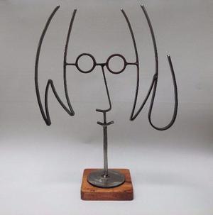 John Lennon Grande / Figura De Metal / Fierro / Base Oscura