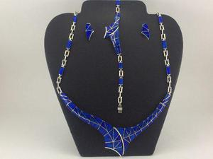Juego Collar Pulsera Aretes De Plata 925 Con Piedra Opalo J6