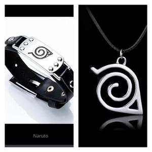 Juego Collar Y Pulsera Brazalete Naruto Envio Gratis