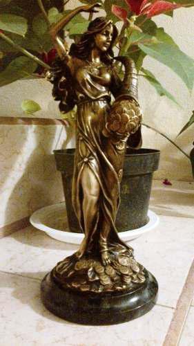 Lrc Diosa De La Abundancia, Escultura De Bronce, Preciosa