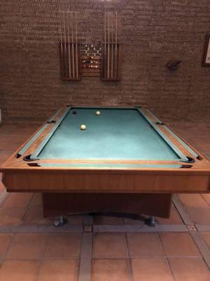 Mesa De Billar Convertible De Carambola Y Pool. Pizarra Ital