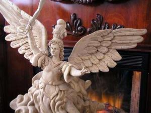 Oferta -20% Escultura De Madera De Arcángel San Miguel