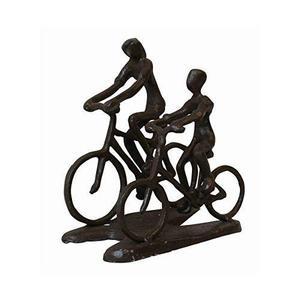 Pareja En Bicicleta Estatua De Metal De Escultura De Bronce