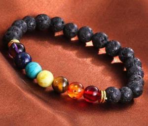 Pulsera 7 Chakras Piedra Natural- Energía Meditación Yoga