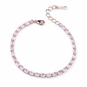 Pulsera Chapa De Oro Rosa Con Swarovski Elements - 47
