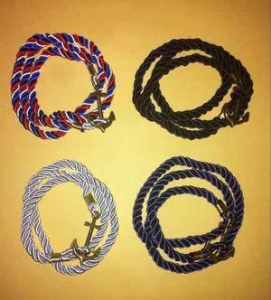 Pulsera De Ancla, Azul, Negra, Blanca Y Tricolor,de Moda