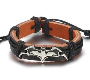Pulsera De Cuero De Logo Batman Vintage Envio Gratis