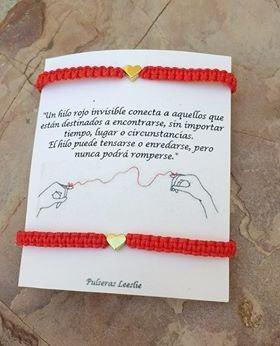 Pulsera Del Hilo Rojo Del Destino Con Dije De Corazon
