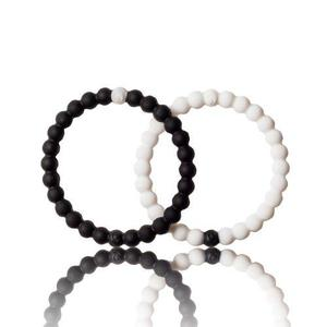Pulsera Lokai Brazalete Color Negro Y Blanco Talla M Pack!!!