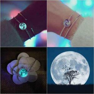 Pulsera Luna Llena Brilla Oscuridad Moda Brillante Envió